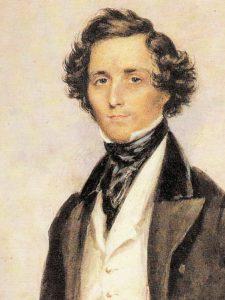 Felix Mendelssohn portrait by James Warren Childe, 1839